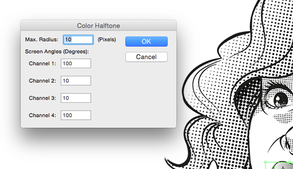 12_halftone-mouth-settings1 Растровый эффект в Illustrator